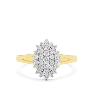 1/2ct GH Diamond 18K Gold Ring