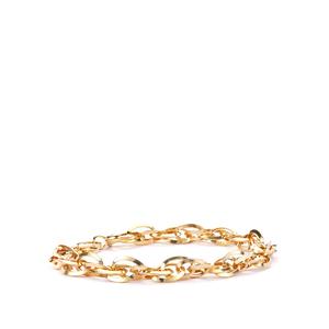 "7.5"" 9K Gold Altro Triangle Tube Prince Of Wales Bracelet 6.01g"