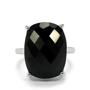 15.09ct Black Onyx Sterling Silver Ring