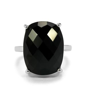 Black Onyx Ring in Sterling Silver 15.09cts