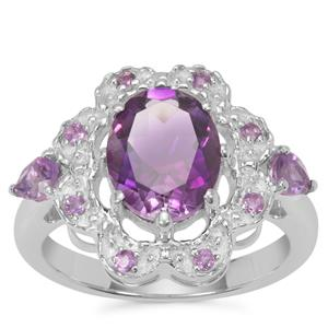 Moroccan Amethyst Ring with Amethyst in Sterling Silver 2.74cts