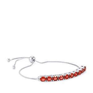 Rajasthan Garnet Slider Bracelet in Sterling Silver 4.17cts