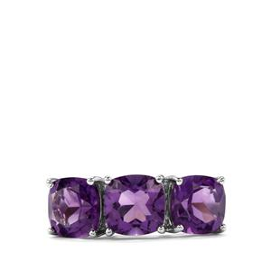 Zambian Amethyst Ring in Sterling Silver 3.85cts