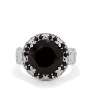Black Spinel Ring in Sterling Silver 7.25cts