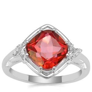 Cruzeiro Topaz Ring with White Zircon in Sterling Silver 4.03cts