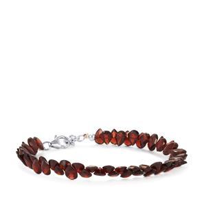 47ct Nampula Garnet Sterling Silver Bead Bracelet