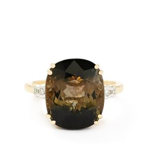 Tourmaline & Diamond 18k Gold Lorique Ring MTGW 10.70cts