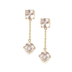 Alto Ligonha Morganite Earrings in 9K Gold 1.95cts