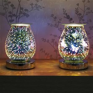 3D Glass Aromatherapy Wax Melt Lamp on Stand - Selection of 2 Designs