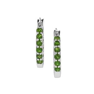 1.66ct Chrome Diopside Sterling Silver Earrings