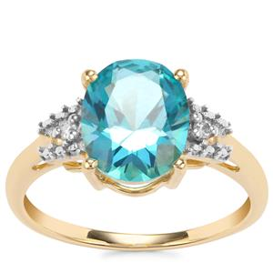 Batalha Topaz Ring with Diamond in 10K Gold 3.05cts