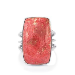 22ct Thulite Sterling Silver Aryonna Ring