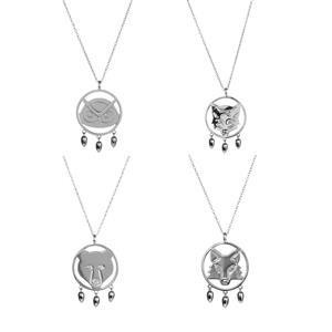 Spirit Animal Pendant Sterling Silver Necklace