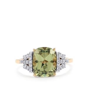 Csarite® Ring with Diamond in 18K Gold 3.39cts