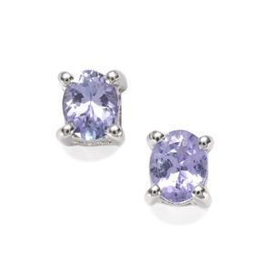 Tanzanite Earrings in Sterling Silver 0.56cts