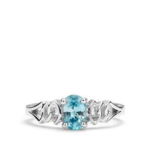 Ratanakiri Blue Zircon Ring in Sterling Silver 1.23cts