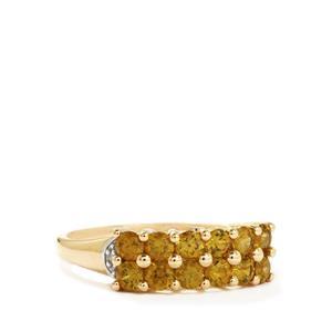 Apache Demantoid Garnet & Diamond 10k Gold Tomas Rae Ring ATGW 1.11cts