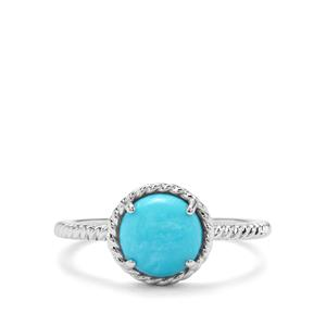 1.68ct Sleeping Beauty Turquoise Sterling Silver Orbs of Light Ring
