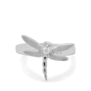 0.05ct Ratanakiri Zircon Sterling Silver Dragon Fly Ring