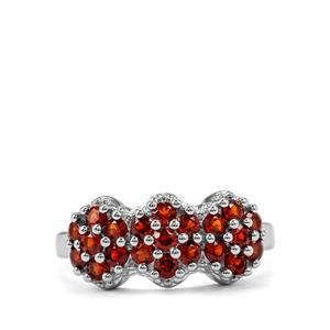 Anthill Garnet Ring in Sterling Silver 1.22cts