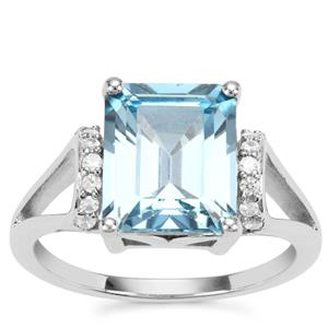 Versailles Topaz Ring with White Zircon in Sterling Silver 5.54cts