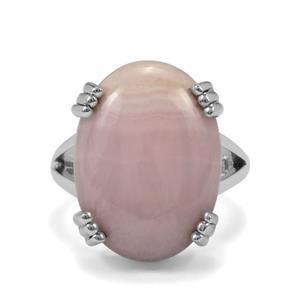 13.50ct Pink Aragonite Sterling Silver Aryonna Ring