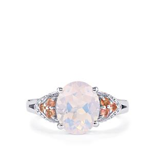 Rio Grande Lavender Quartz Ring with Pink Tourmaline in Sterling Silver 3.53cts