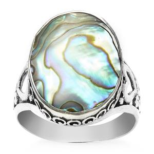 Samuel B Abalone Ring in Sterling Silver