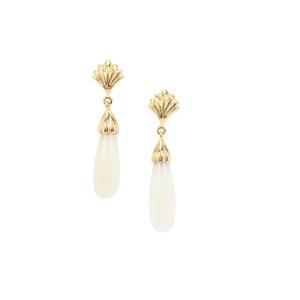 15ct Aqua Chalcedony Midas Earrings