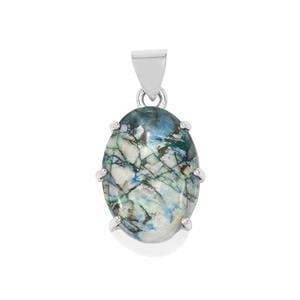 28ct Azurite Diopside Sterling Silver Aryonna Pendant