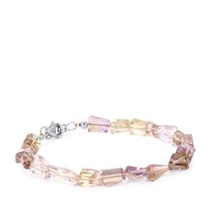 45ct Ametrine Sterling Silver Tumbled  Bracelet