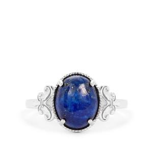 Sar-i-Sang Lapis Lazuli Ring in Sterling Silver 3.20cts