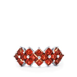 2.46ct Mozambique Garnet Sterling Silver Ring