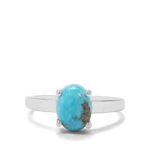 2.97ct Arizona Turquoise Sterling Silver Ring
