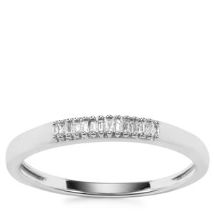 Diamond Ring in Sterling Silver 0.06ct