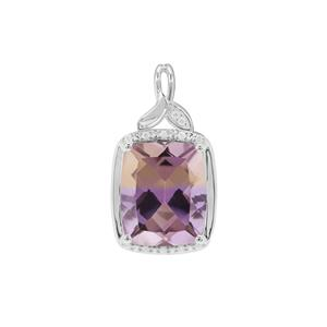 Anahi Ametrine Pendant with White Zircon in Sterling Silver 4.65cts