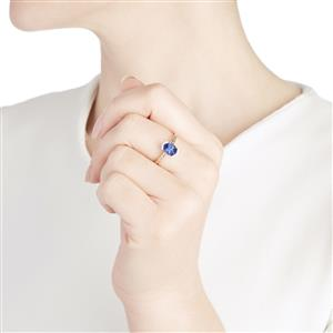 AA Tanzanite & Diamond 10K White Gold Ring ATGW 1.16cts