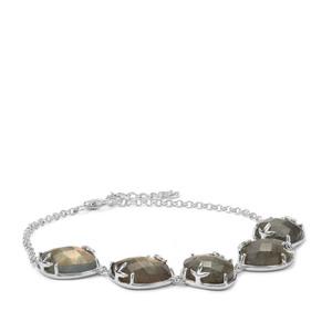 Labradorite Bracelet in Sterling Silver 22.97cts