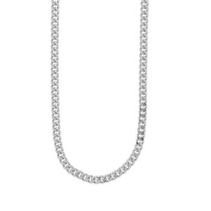 "30"" Sterling Silver Classico Diamond Cut Curb Chain 1.78g"