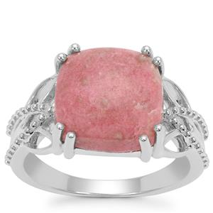 Norwegian Thulite Ring in Sterling Silver 5.71cts