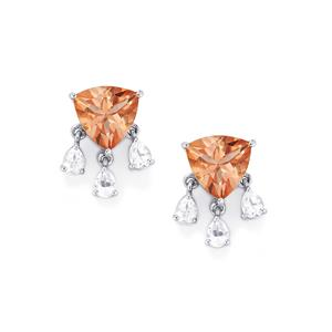 6.73ct Galileia & White Topaz Sterling Silver Earrings
