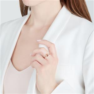 Gouveia Andalusite & White Zircon 10K Gold Ring ATGW 1cts