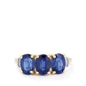 Sundar Kyanite & Diamond 9K Gold Ring ATGW 3.25cts