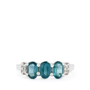 Orissa Kyanite & White Topaz Sterling Silver Ring ATGW 1.89cts