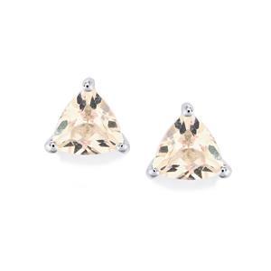 Alto Ligonha Morganite Earrings in Sterling Silver 1.17cts