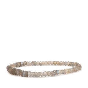Labradorite Graduated Bead Stretchable Bracelet 33cts