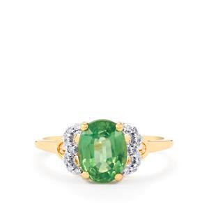 Nuagaon Kyanite & Diamond 10K Gold Ring ATGW 2.35cts