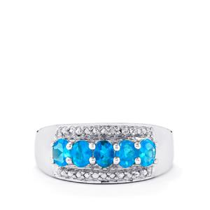 0.80ct Neon Apatite Sterling Silver Ring