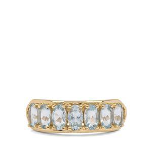 1.35ct Santa Maria Aquamarine 9K Gold Ring