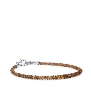 18ct Tsivory Colour Change Garnet Sterling Silver Bead Bracelet